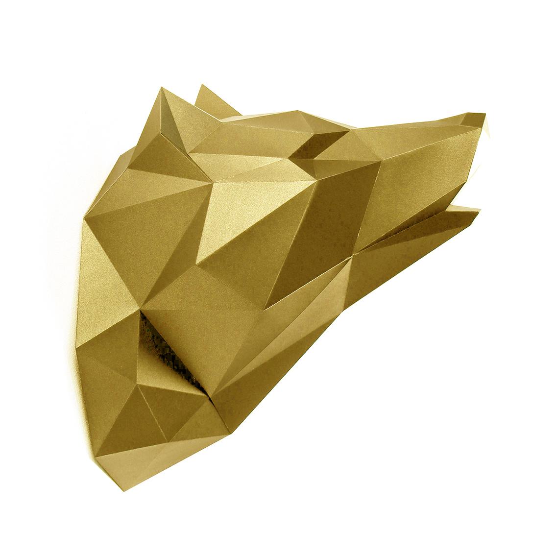 Goud papieren wolf van Assembli