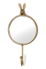 Gold bunny mirror with hook