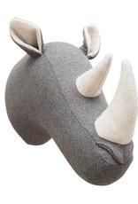 Felt rhino head wall decoration