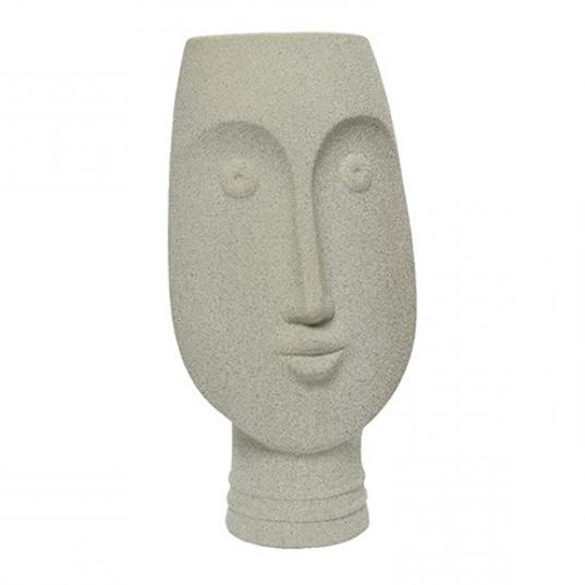 Design vaas in de vorm van een hoofd