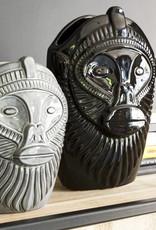 Modern design ceramic monkey head vase