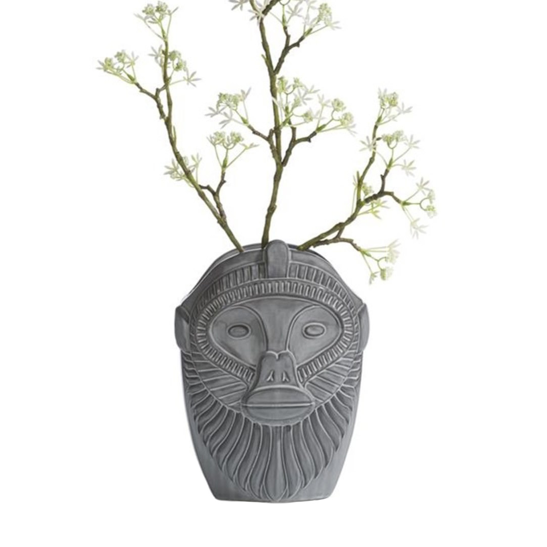 Modern design ceramic monkey head vase