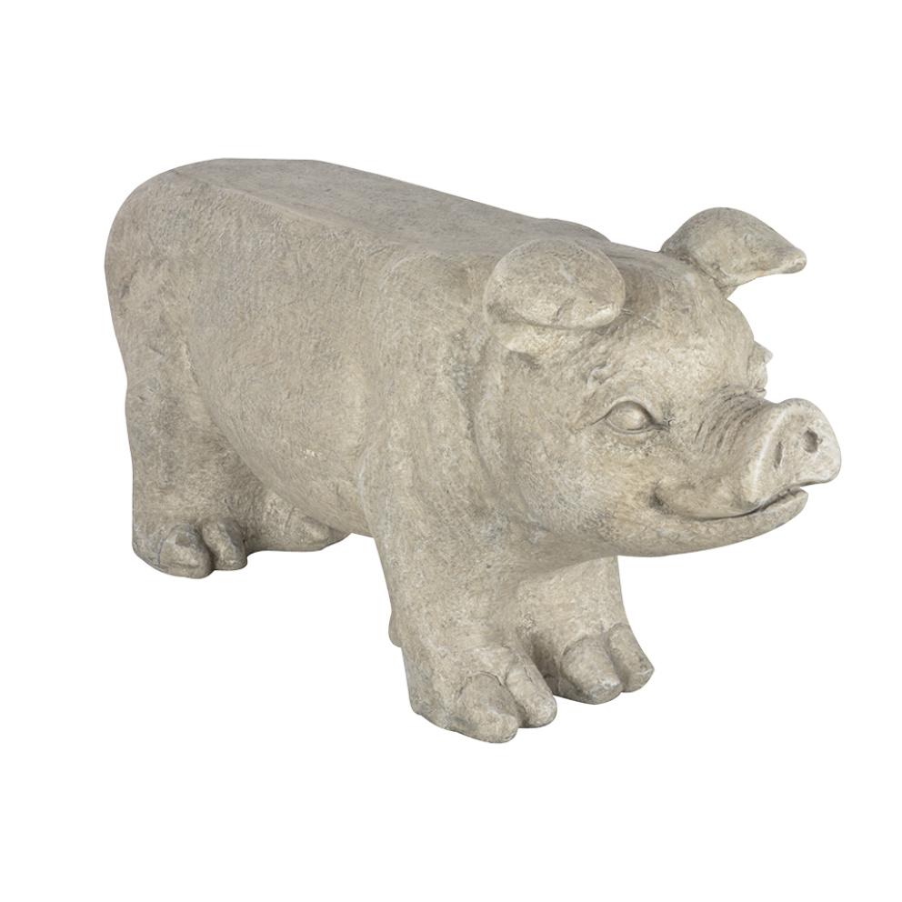 Design tuinbankje in de vorm van een varken