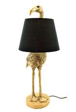 Gouden flamingo schemerlamp