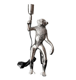 Silver monkey table lamp