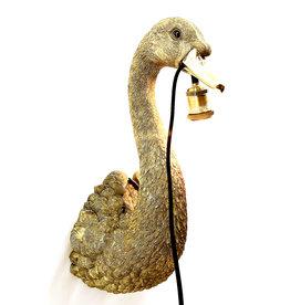 Zwaan wandlamp