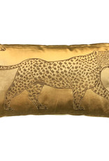 Rectangular luxury cushion with leopard