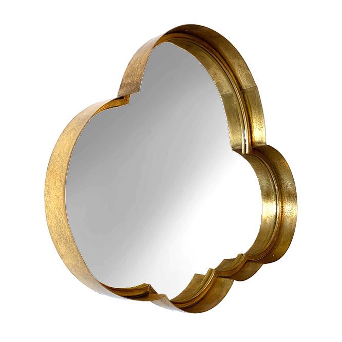 Gold metal cloud mirror
