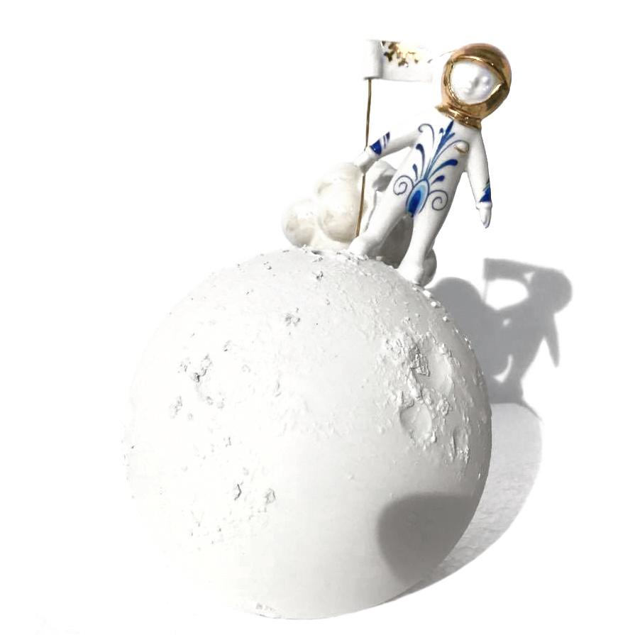 """Vaasje """"Walking on the Moon"""" van Lammers en Lammers"""