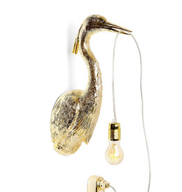 Bird wall light / Gold