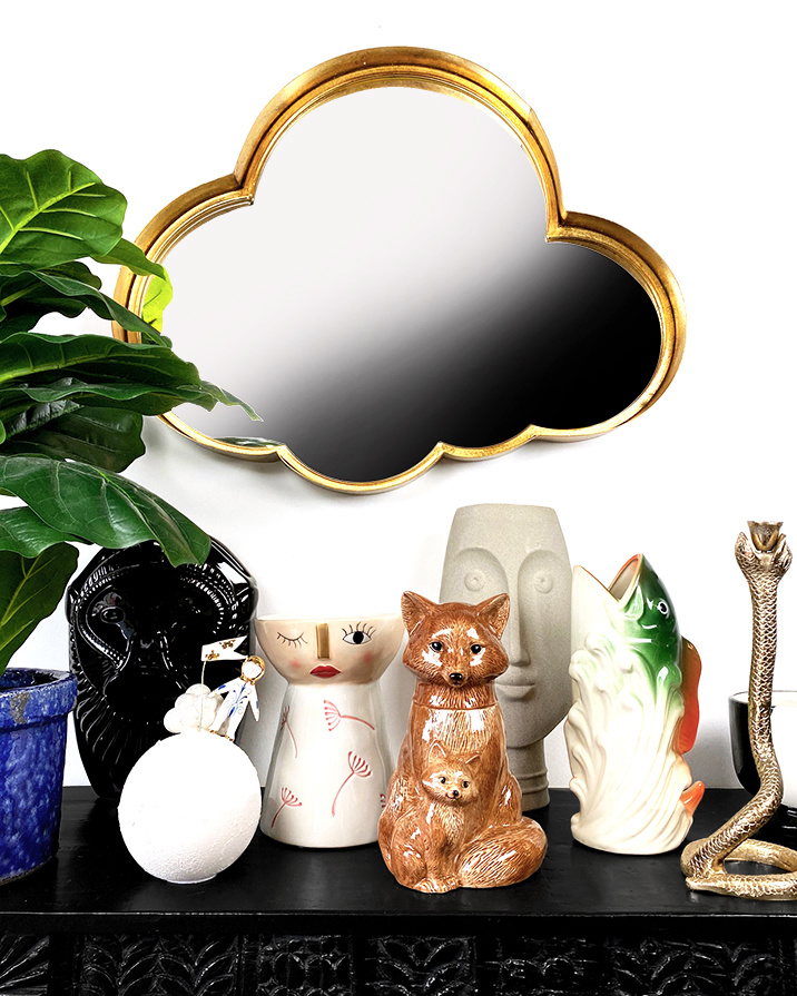 Ceramic lady planter