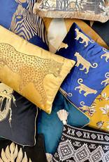 Luxe rechthoekig sierkussen met tijger print