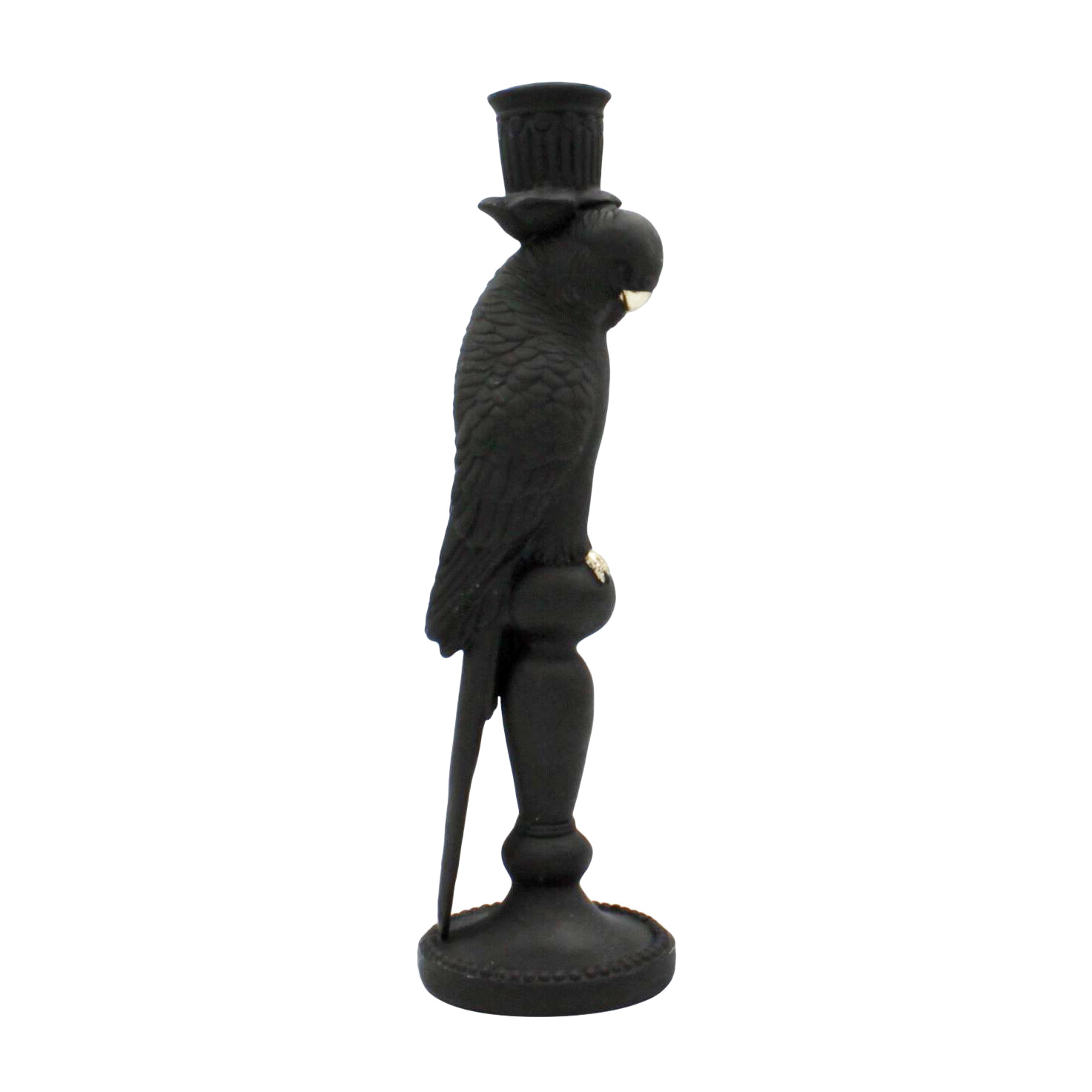 Black parrot candlestick