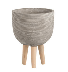 Grey planter on legs