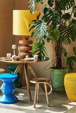 """Yellow metal side table """"Dot"""""""