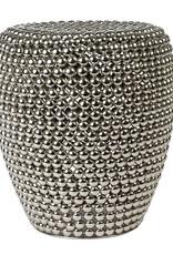 """Zilver metaal design bijzettafel """"Dot"""""""