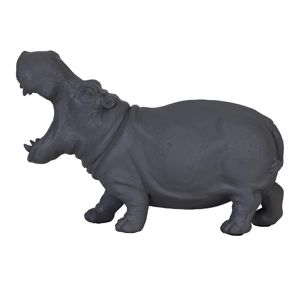 Grey hippo table lamp
