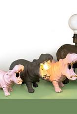 Grijze hippo tafellamp