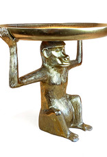 Gold metal monkey side table