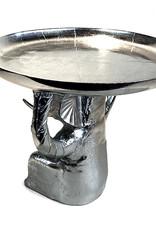 Nikkel metaal olifant bijzettafeltje