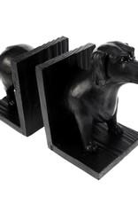 Black dachshund book ends