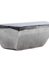 Modern design wall console in nickel