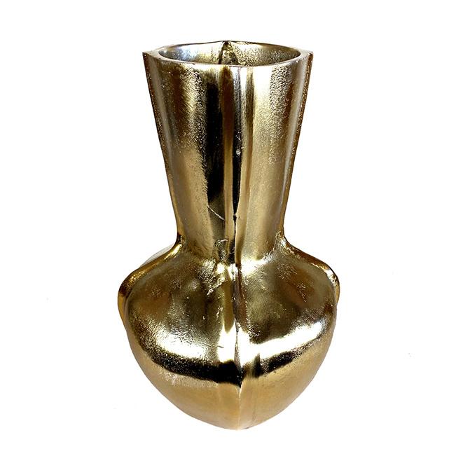 Grote design vaas van goud metaal
