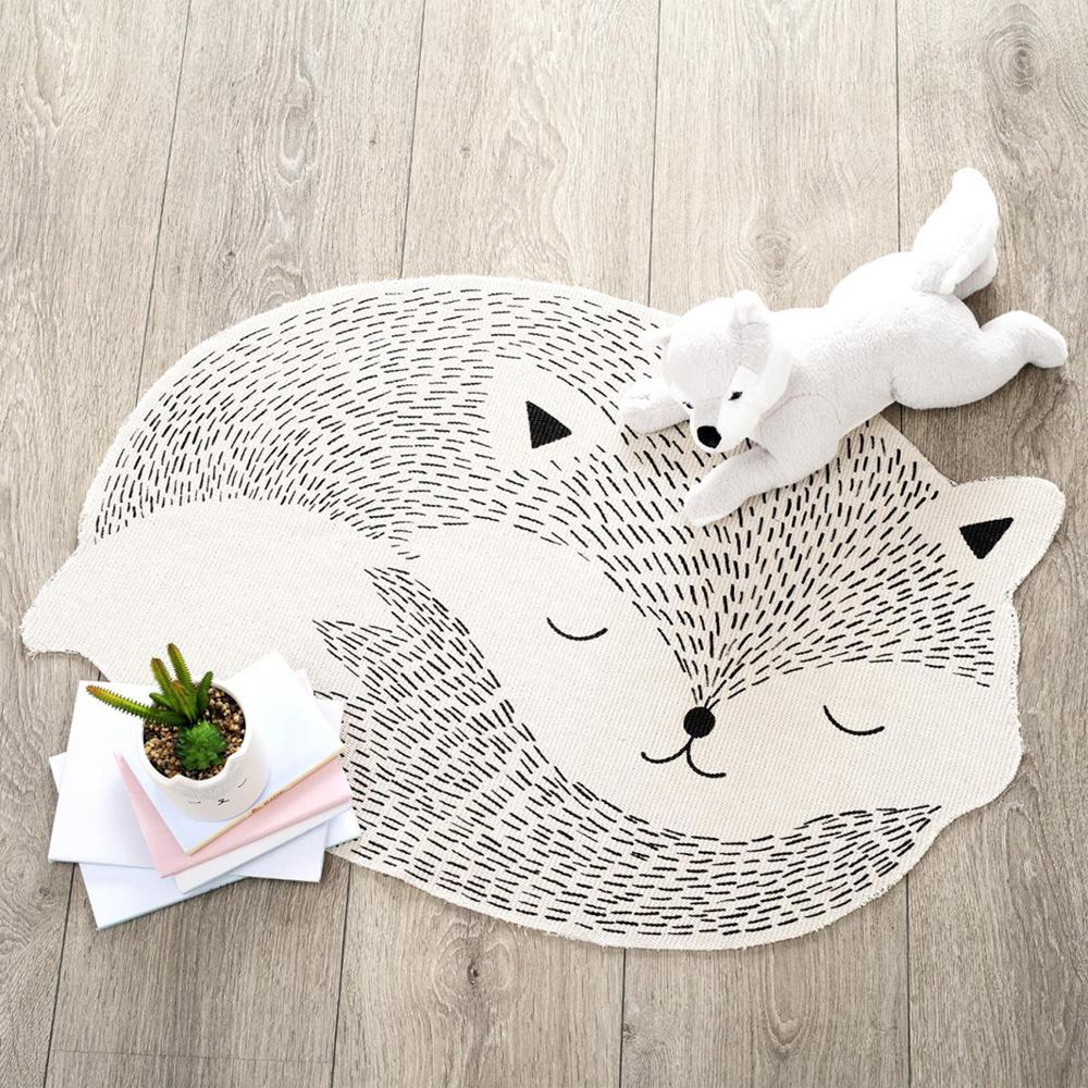 Vloerkleed in de vorm van een vos