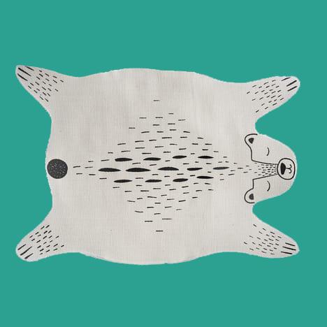 Vloerkleed in de vorm van een beer