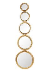 "Decorative gold mirror ""Circles"""