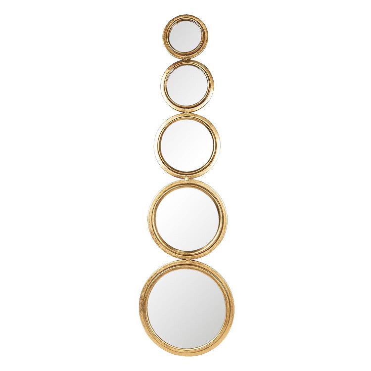 """Decoratieve gouden spiegel """"Circles"""""""