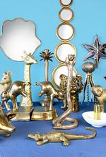 Goud metalen olifant boekensteun set