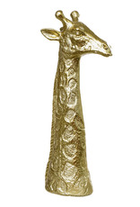 Gold giraffe head decoration figure