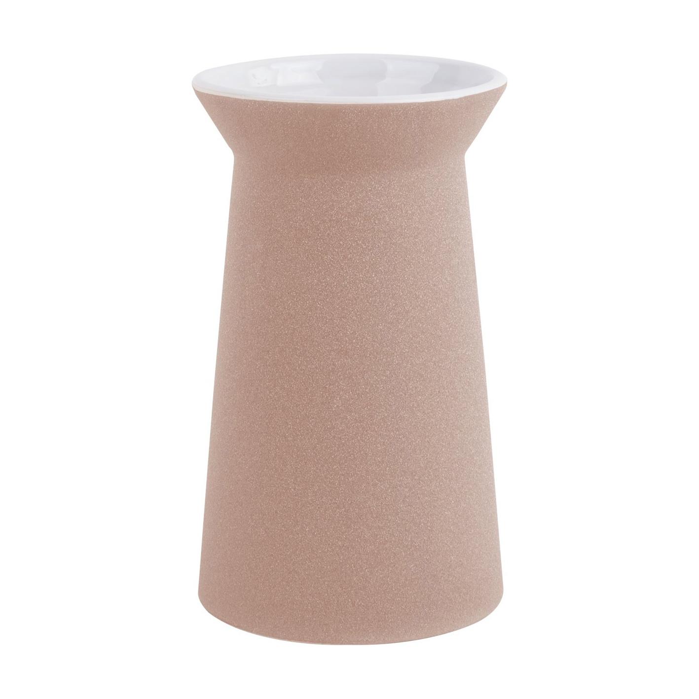 "Design vaas ""Cone"" van mat roze keramiek"