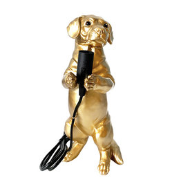Table lamp / Dachshund puppy / Gold