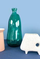 XL fles vaas van groen glas