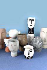 White ceramic vase with ears