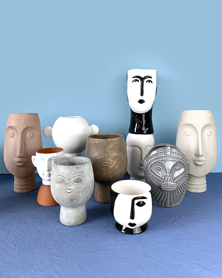 Wit keramiek design vaas met oren