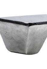 Nikkel metalen design wandconsole