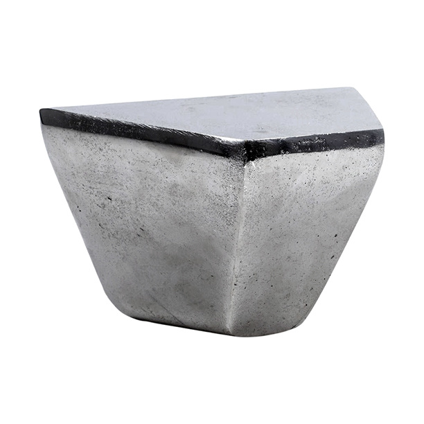 Modern metal design wall console in nickel