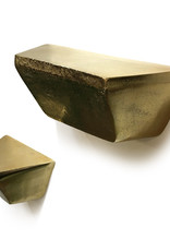 Goud metalen design wandconsole