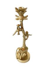 Goud metalen kandelaar met dieren