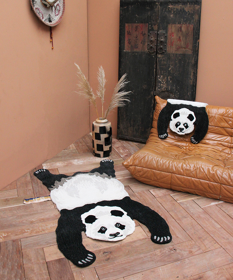 Doing Goods panda vloerkleed