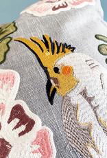 Sierkussen met geborduurde vogels