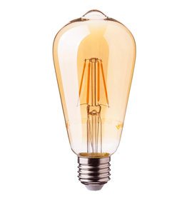 Retro LED light bulb / Gold / 6W