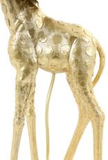 Gold giraffe table lamp