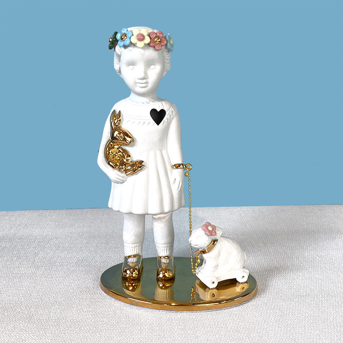 Limited edtion doll with bunny from Lammers and Lammers