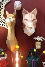 Mint paper alpaca head wall decor