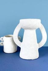 """Grote design vaas van papierpulp """"Earth"""""""