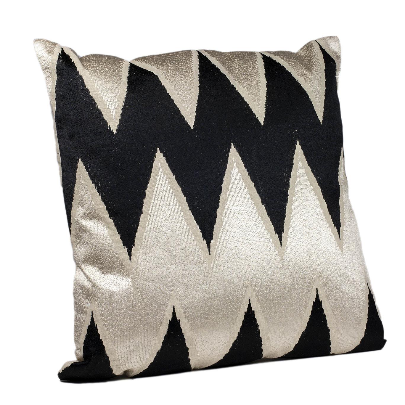 Large luxury sofa cushion with zig zag